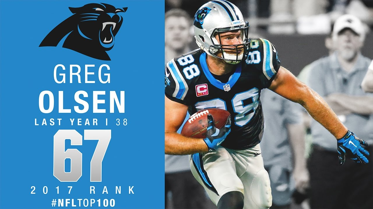 67 Greg Olsen TE Panthers Top 100 Players of 2017