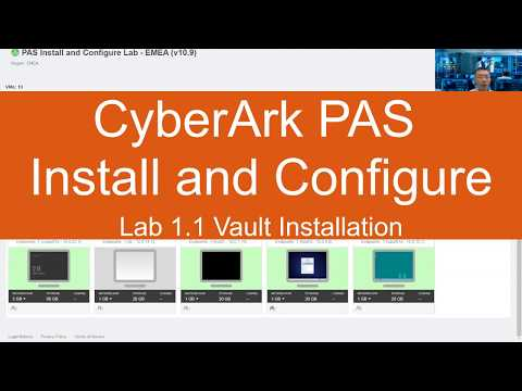 CyberArk PAS Install and Configure Lab - v10.9