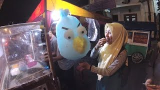 Indonesia Jakarta Street Food 976 Bandung 30 Part.1 Angry Bird Cotton Candy Gulali 5823