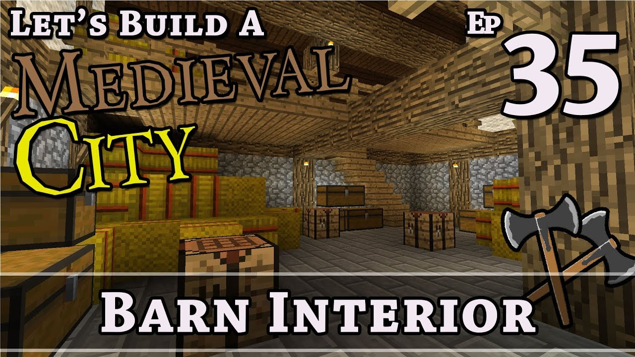 How To Build A Medieval City E35 Barn Interior Minecraft Z One N Only
