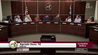 City Of Boulder City Council Meeting 11-19-19