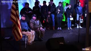 Honoring Vets at the Redmond Lights Celebration