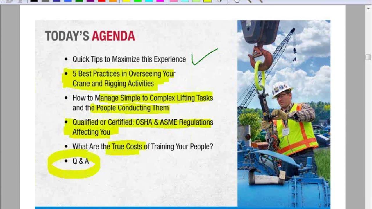 Cranes rigging and your organization iti showcase webinar cranes rigging and your organization iti showcase webinar series 1betcityfo Images
