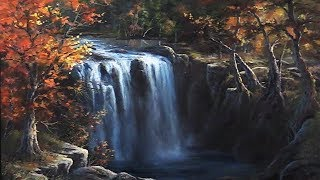 Waterfall in Autumn | Paint with Kevin ®
