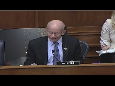 Ranking Member DeFazio questions panel at hearing on Rail, Pipeline, & Hazmat Safety Regulations