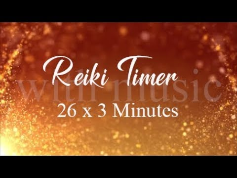 Reiki Timer 3 Minutes ~ Relaxing Flute Music with 26 X 3 Minute