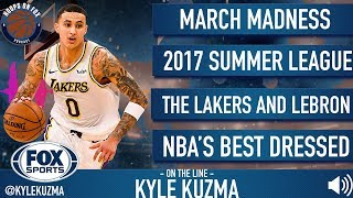 Kyle Kuzma on LeBron, Lonzo Ball, the Lakers Season and more | Hoops on FOX Podcast