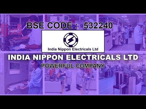 INDIA NIPPON ELECTRICALS LTD   Powerful Company   Investing   Stocks and Shares   Share Guru Weekly