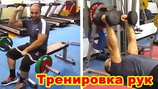 Тренировка рук в тренажерном зале Эльмар 36 лет Баку