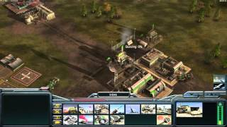 Command and Conquer Generals Zero hour 1v2 multiplayer with friends USA
