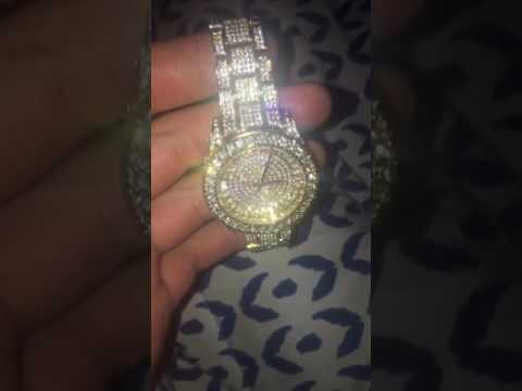 Hiphop bling Iced out Watch