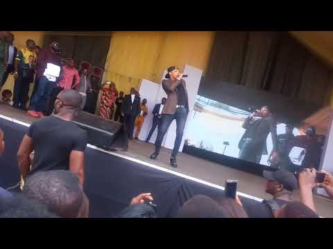 Smart musician Tekno performing Live show.
