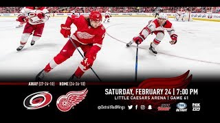 NHL 18 PS4. REGULAR SEASON 2017-2018: Carolina HURRICANES VS Detroit RED WINGS. 02.24.2018. (NBCSN)!