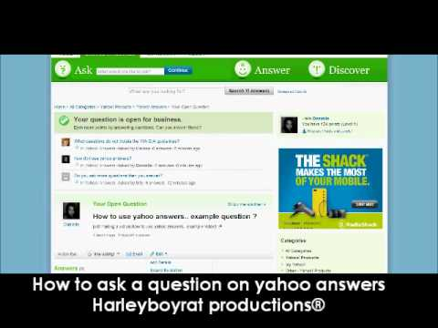 how to ask a question on yahoo answers