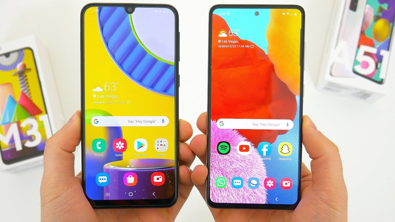 Samsung Galaxy M31 Vs A51 Comparison Which Should You Buy Youtube