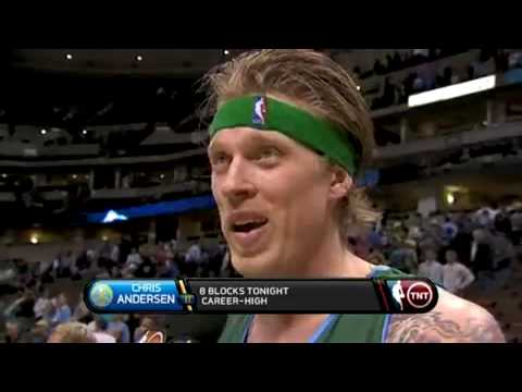 Chris Andersen Postgame Interview - April 2, 2009 vs. Utah Jazz