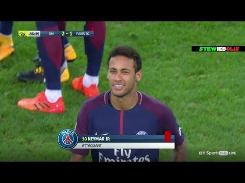 Neymar Jr ⚽ Red Card 🔴 Vs Marseille ⚽ Marseille Vs PSG 2-2 ⚽ HD #Neymar