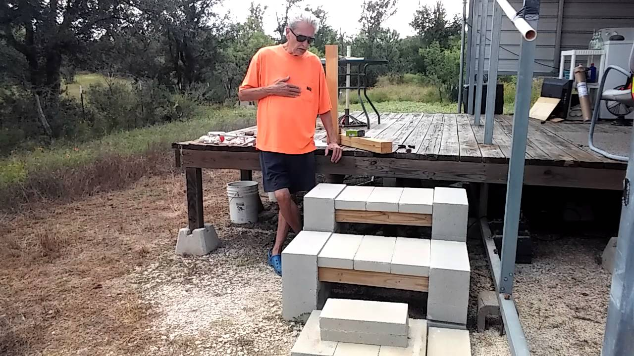Cinder Block Stairs Patio Stepscheap And Easy Youtube