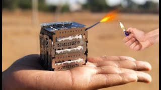 20 Sharp Blade on Green Naazi Experiment || Blade Tied on Green Naazi Experiment || Experiment king