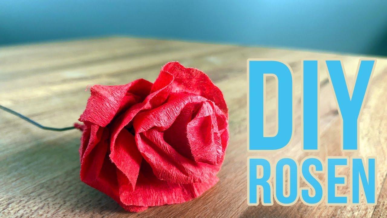 Rosen Geschenk Krepppapier Blumen Basteln Diy Valentinstag Muttertag