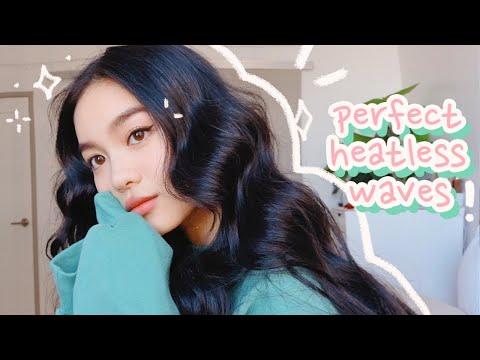 THE BEST OVERNIGHT HEATLESS WAVES 💫 HAIR TUTORIAL YouTube
