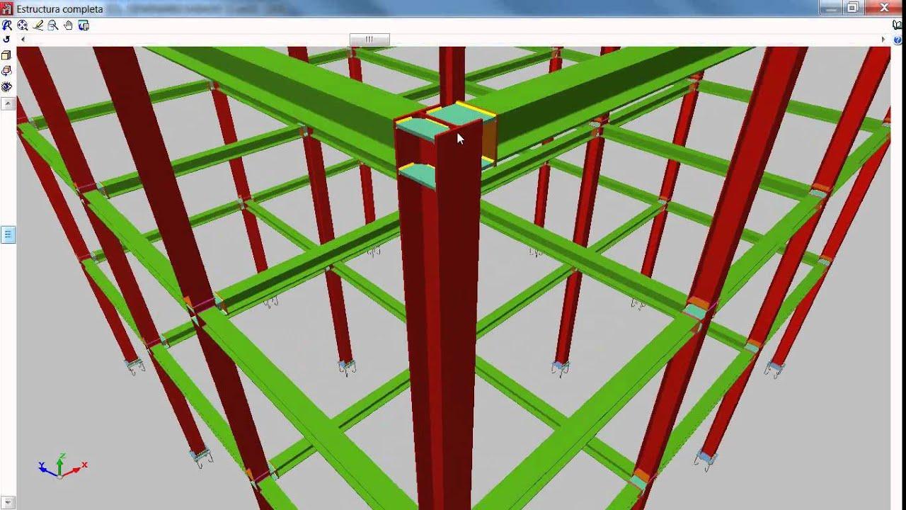Curso cype 3d estructuras metalicas metal 3d youtube - Estructuras de metal ...