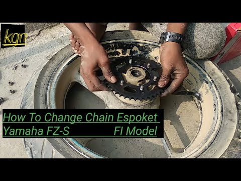 How To Change Chain Espoket Yamaha FZ-S Most Watch