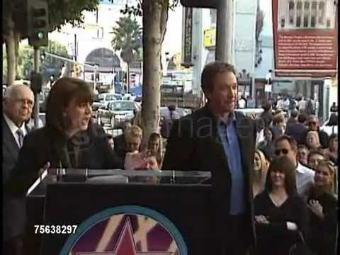 Tim Allen and Patricia Richardson at the walk of fame part1