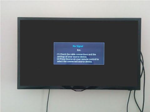 "Fix Samsung led tv """" NO SIGNAL """" hdmi connection problem with pc (Annotations need to be enabled)"