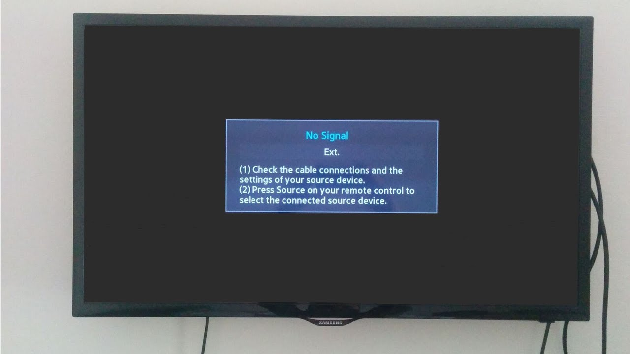 Fix Samsung Led Tv Quot Quot No Signal Quot Quot Hdmi Connection Problem