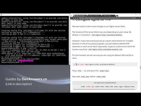 How To Install Nginx, PHP, MySQL (LEMP) On Ubuntu 18.04