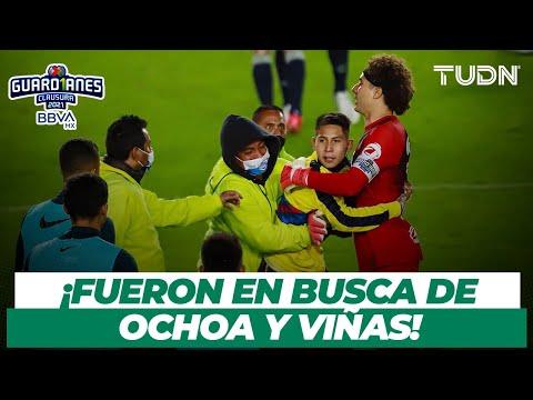 ¡Reprobable! Aficionados de América invaden la cancha del Estadio Hidalgo   TUDN