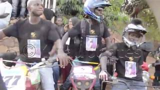 Mozey Radio's body being escorted from Lubaga cathedral to Kololo grounds