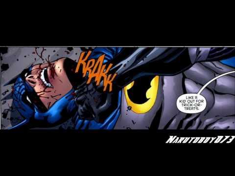 Tim Drake (dressed As Batman) Vs Jason Todd (dressed As Batman) From The Comic