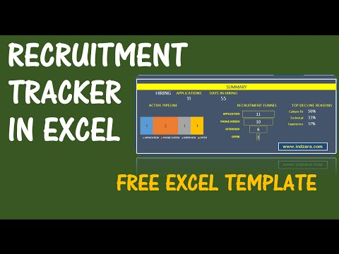 Recruitment Tracker Spreadsheet - Free HR Excel Template - v1