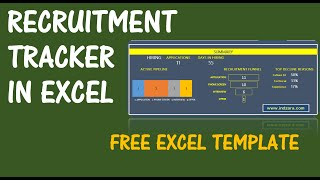 Download recruitment tracker excel template from http://indzara.com/2015/09/recruitment-tracker-free-excel-template/ are you in the process of recruiting for...