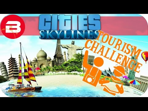 Cities Skylines Gameplay - TOURISM CHALLENGE SCENARIO (Cities: Skylines TOURISM Scenario) #1