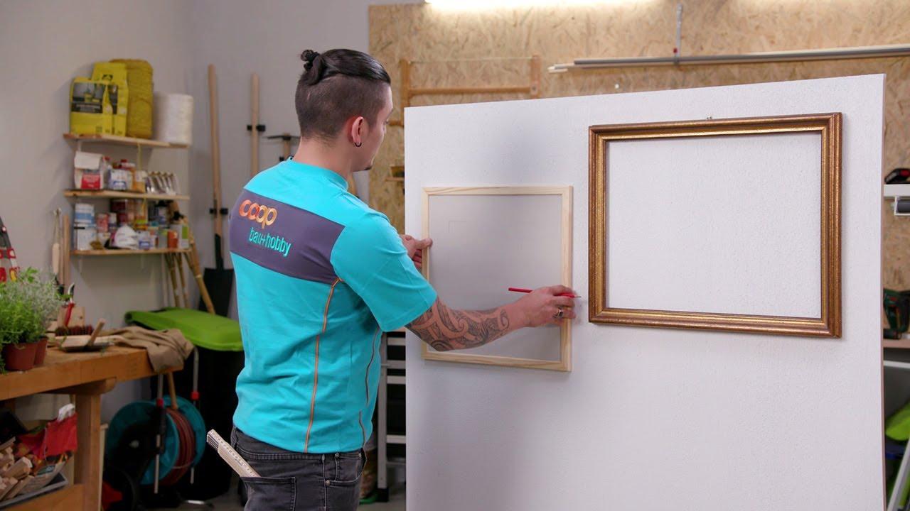 Accrocher Un Tableau Lourd Au Mur bien accrocher un cadre avec coop brico+loisirs