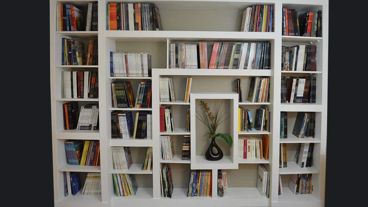 fabriquer une bibliotheque moderne youtube. Black Bedroom Furniture Sets. Home Design Ideas