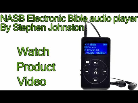 NASB Bible Audio - Electronic Bible Audio Player - New American Standard Bible