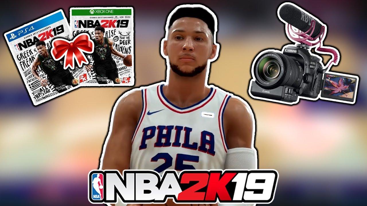 NBA 2K19 Ben Simmons GAMEPLAY! NBA 2K19 GIVEAWAY! And I Got A New Camera fffacd582