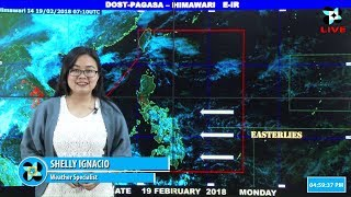 Public Weather Forecast Issued at 4:00 PM February 19, 2018