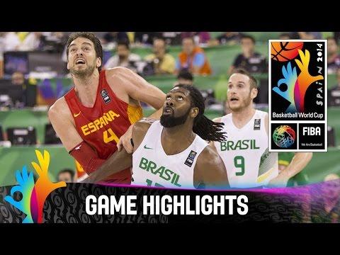 Brazil v Spain - Game Highlights - Group A - 2014 FIBA Basketball World Cup