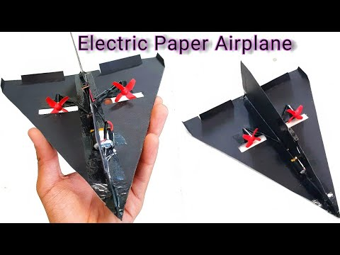 #PaperAirplane #RcPlane How To make an Electric Paper Airplane at Home || DIY ||