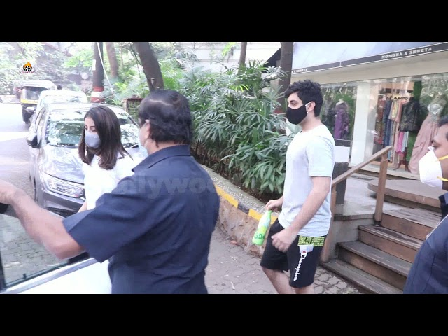 Navya Nanda & Agastya Nanda Snapped At Bandra Exclusive