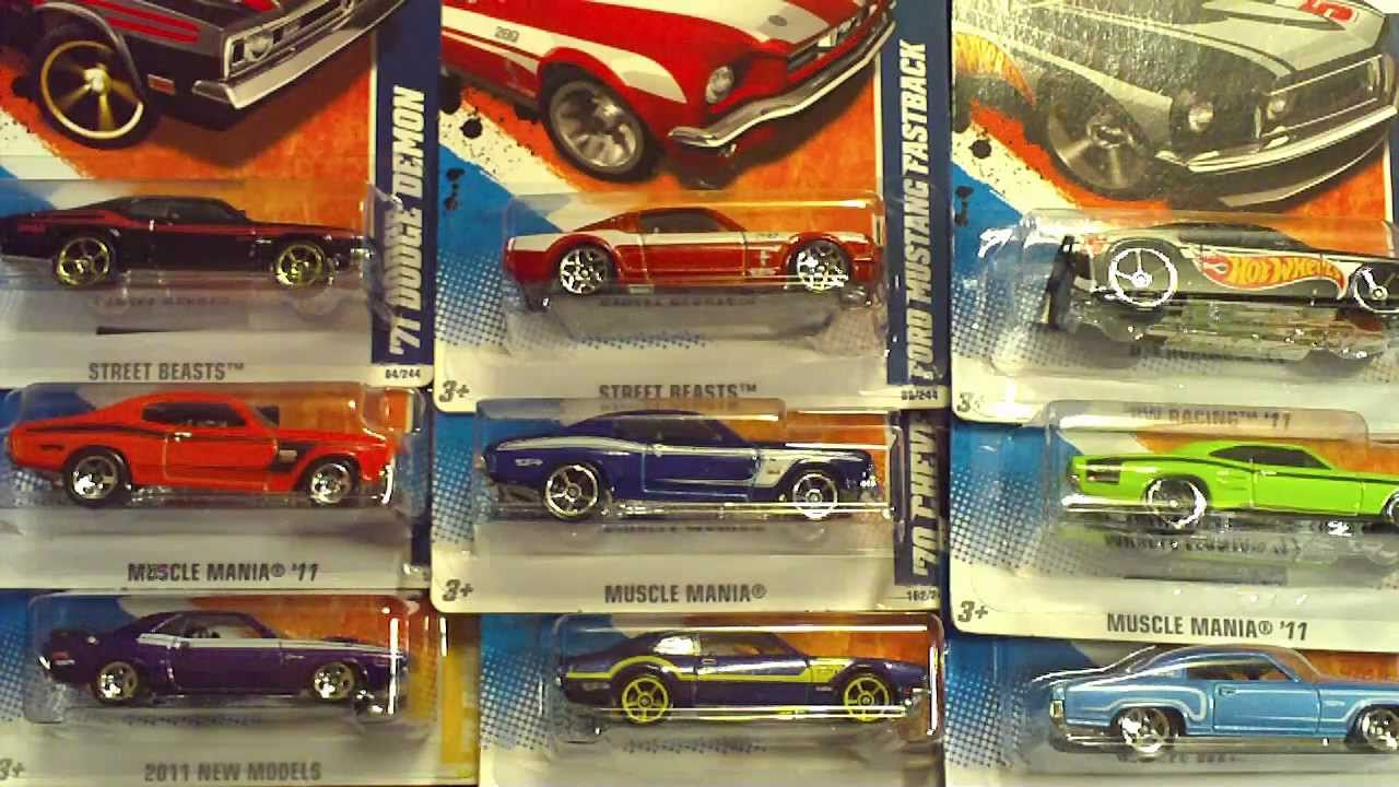 Hotwheels Mustang And Muscle Mania Cars Haul Youtube