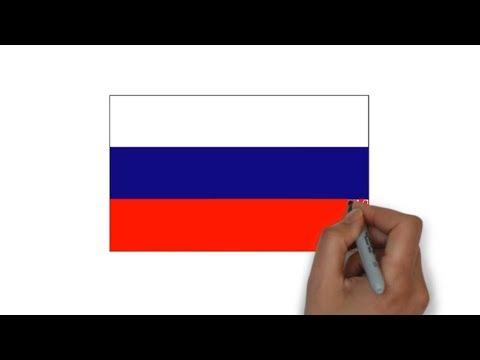 HOW TO DRAW RUSSIA FLAG ( флаг России )