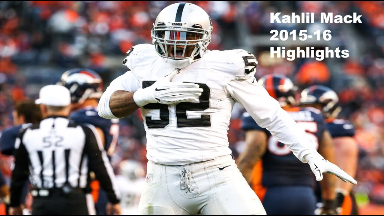 100% authentic 82ae6 c44b4 2016 Pro Bowl LB/DE: Kahlil Mack Highlights - NFL 2015-16 HD