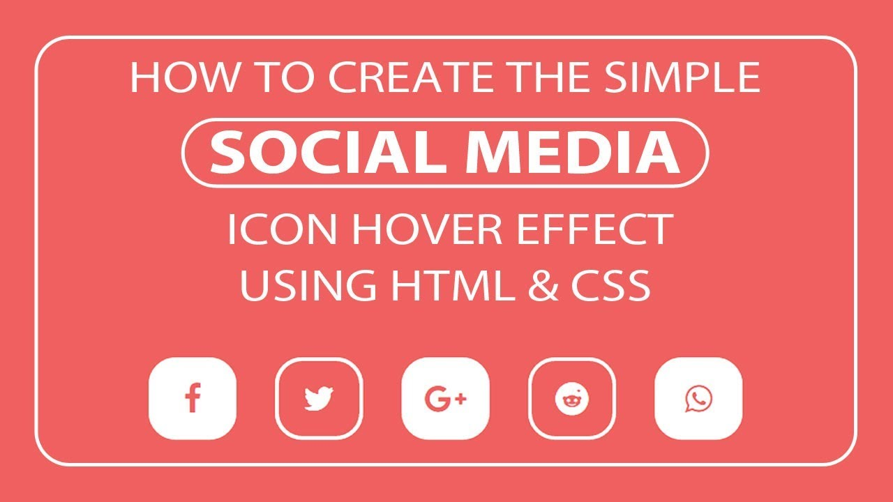 Social Media Icon hover effect - Icon hover effect - Glowing Icon hover  effect
