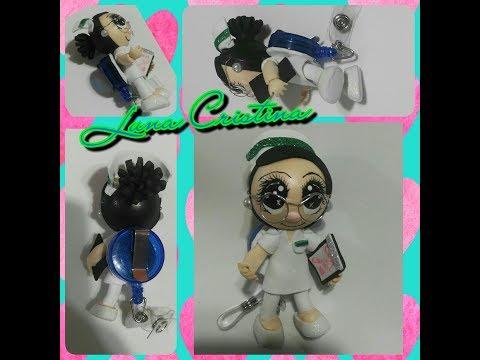 Enfermera Mini Para Gafete Yoyo (fomi)